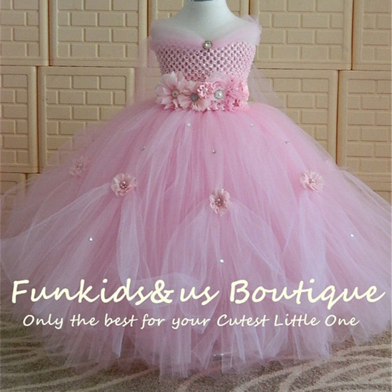 d8ec95401 1-8Y Princess Tutu Tulle Flower Girl Dress Kids Party Pageant ...